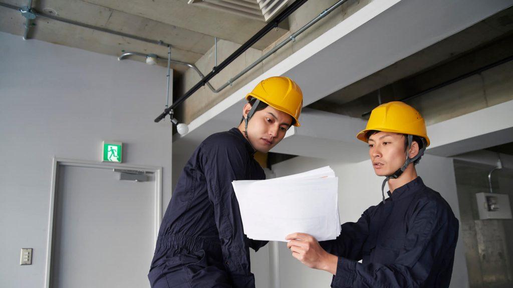 設備工事のスタッフ